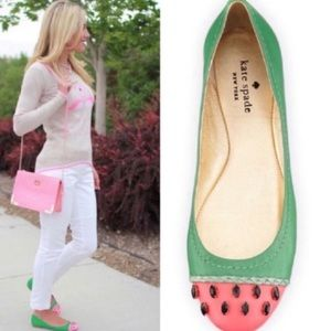 Kate Spade Jade Watermelon Ballet Flats